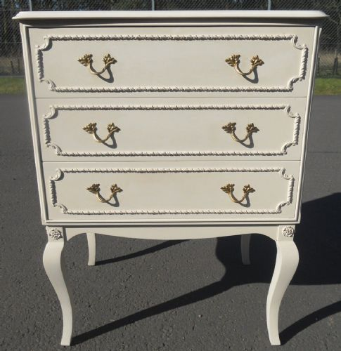 Small Louis Style Painted Chest of Drawers